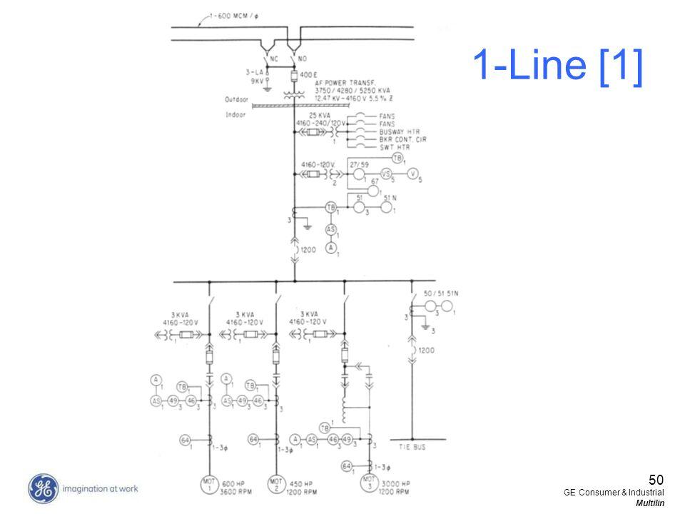 1-Line [1] 50 GE Consumer & Industrial Multilin